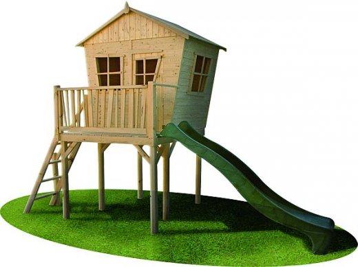 Projekt drewnianego domku dla dzieci