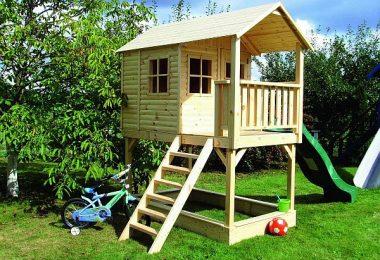 Drewniany domek dla dzieci - projekt