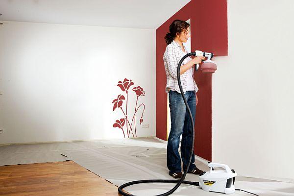 Jak działa pistolet do malowania ścian
