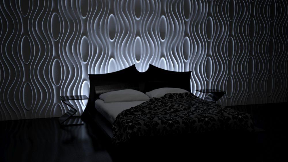 Nowoczesna sypialnia - nowoczesne oświetlenie