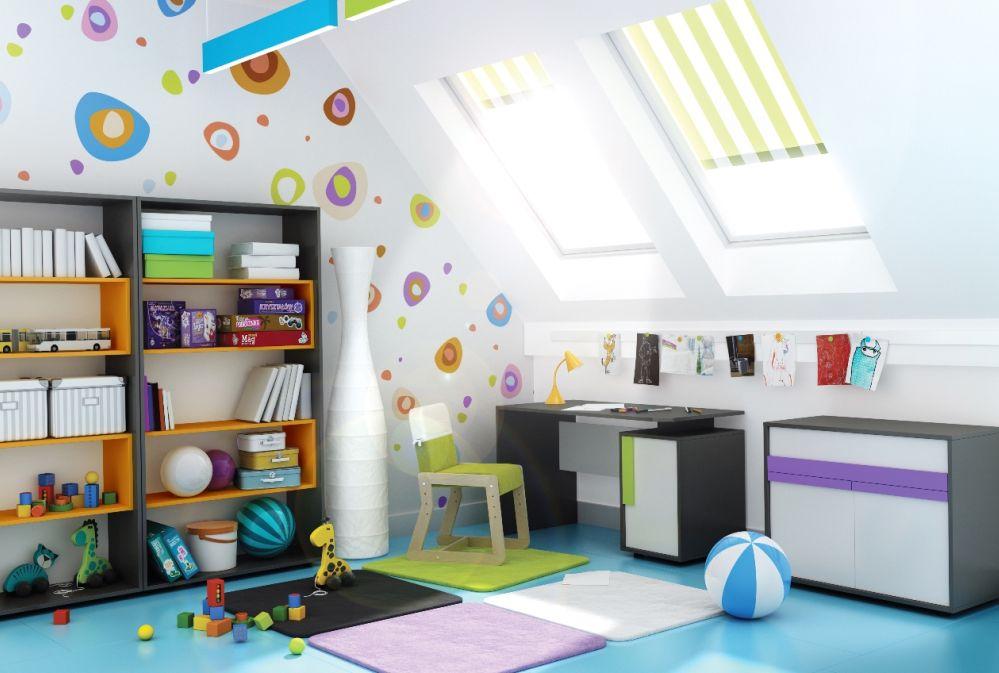 Pokój dziecięcy - projekty poddasza